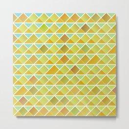 Tiny triangles pattern Metal Print