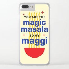 Magic Masala Clear iPhone Case