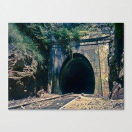 Train Tunnel Entrance #2 Canvas Print