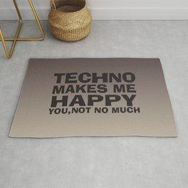 Techno makes me happy Rug