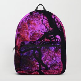 Under the Tree in Pink and Purple Backpack