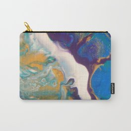 Fluid Nature - Dividing Line - Abstract Acrylic Art Carry-All Pouch