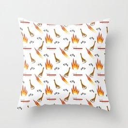Mesozoic Extinction Event Pattern Throw Pillow