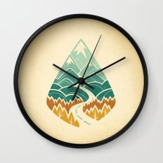The Road Goes Ever On: Autumn Wall Clock