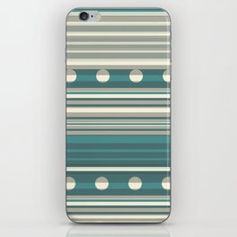 Grey and Blue iPhone Skin