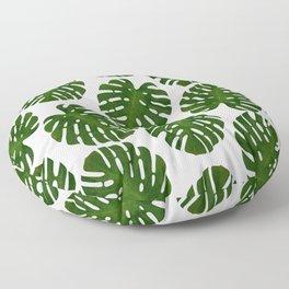 Monstera Leaf III Floor Pillow