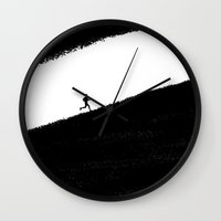 running Wall Clocks featuring Running by eARTh