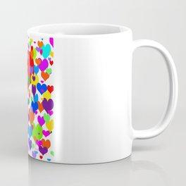 Beaucoup de coeurs de couleur Coffee Mug