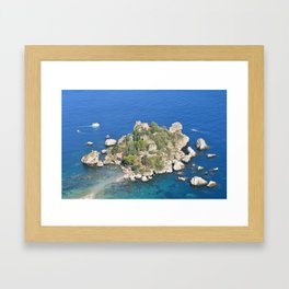 Island escape Framed Art Print