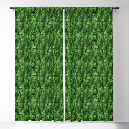 Green and Black Scary Spooky Skeleton Bone Human Head Skulls Blackout Curtain