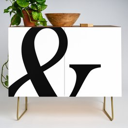 Typography, Ampersand, And Sign Credenza