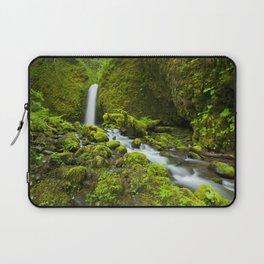 III - Remote waterfall in lush rainforest, Columbia River Gorge, Oregon, USA Laptop Sleeve