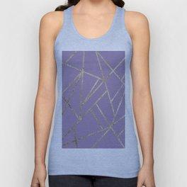 Classic Lavender Gold Geo #1 #geometric #decor #art #society6 Unisex Tank Top