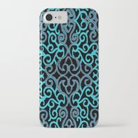 celtic iPhone & iPod Cases featuring celtic blue by Ariadne