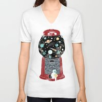 gumball V-neck T-shirts featuring My childhood universe by I Love Doodle