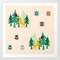 beagle Art Prints featuring Beagle by BruxaMagica_susycosta