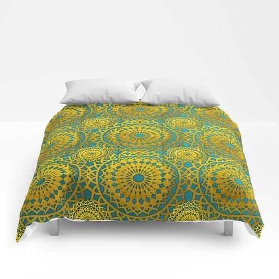 Golden Mandala 2 Comforters