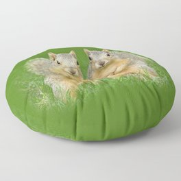 Squirrels-Brothers Floor Pillow