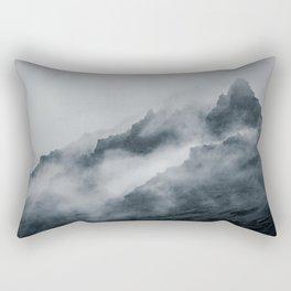 Fog Amongst The Cliffs Rectangular Pillow
