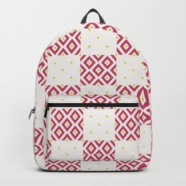 Geometric Minimalist Diamond Pattern Backpack