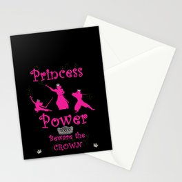 Princess Power Beware the Crown Ninja Princesses Stationery Cards