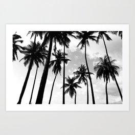 Palm Tree Noir #10 Art Print