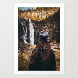 Norway || Norwegian Nature || Mountains || Norge || Landscape || Waterfall || Travel || Advent Art Print