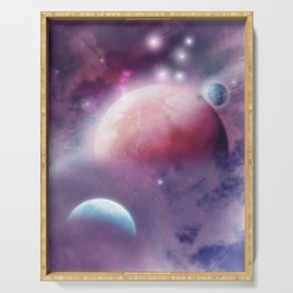 Pink Space Dream Serving Tray