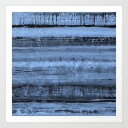 Expressive Inverted Watercolor Stripe Art Print