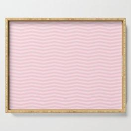 Light Soft Pastel Pink Chevron Stripes Serving Tray