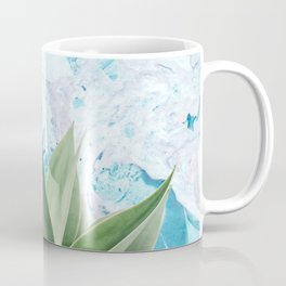 Marbled background plant Coffee Mug
