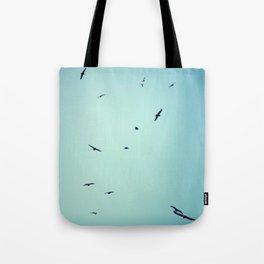 sky full of seagulls Tote Bag