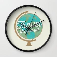 Travel the world - Globe design Wall Clock