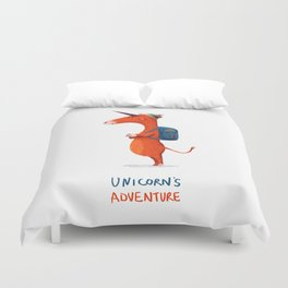 Unicorn's adventure Duvet Cover