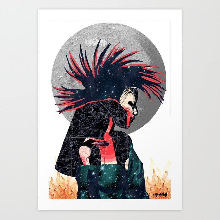 Aries (Zodiac Series 1) Art Print