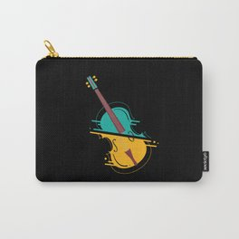 Retro Upright Bass Classical Music Carry-All Pouch