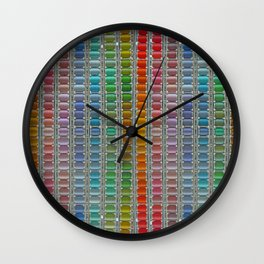 Bright cotton reels. Wall Clock