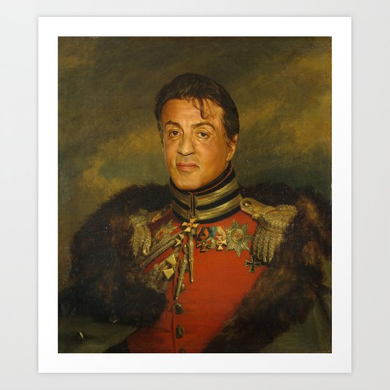 Sylvester Stallone - replaceface Art Print