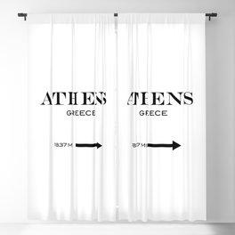 Athens - Greece Blackout Curtain