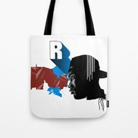 rap Tote Bags featuring Rap by David Navascues