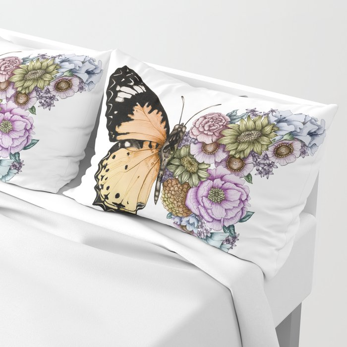 Butterfly in Bloom II Pillow Sham