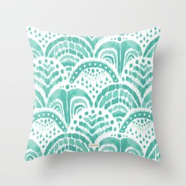 KOOK ARMOR Aqua Scallop Throw Pillow