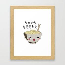 Send Noods Ramen Japanese Noodle Lover In Sign Language Framed Art Print
