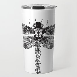 Lace dragonfly Travel Mug