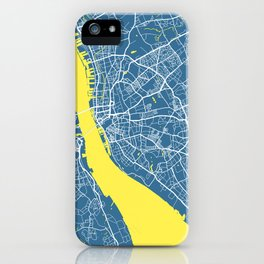 Liverpool Map | England | Blue & Yellow | More Colors, Review My Collections iPhone Case