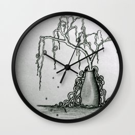 Wilted Plant Wall Clock