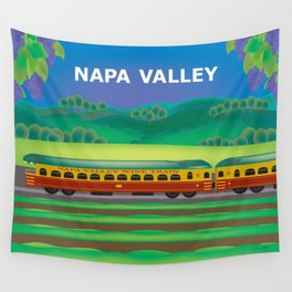Napa Valley, California - Skyline Illustration by Loose Petals Wall Tapestry