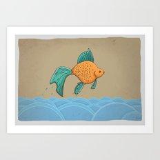 Dry Goldfish Art Print