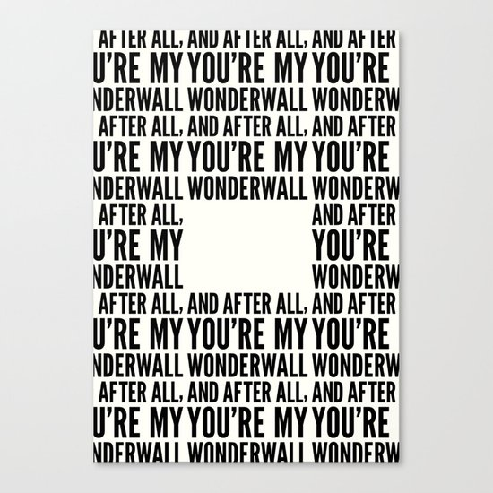 Wonderwall Canvas Print