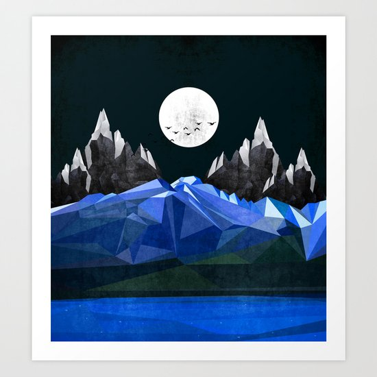 Ice Night Art Print